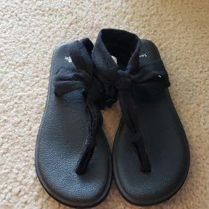 Sanuk Yoga Sling Ella Black Size 7